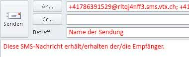 SMS Gateway im Outlook verwende